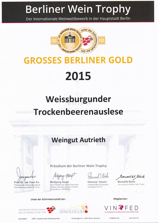 Berlin Gold 2015 WB TBA